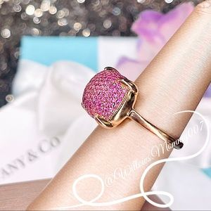 Tiffany & Co. Paloma's Sugar Stacks Large Pink Sapphire Ring in 18k Rose Gold